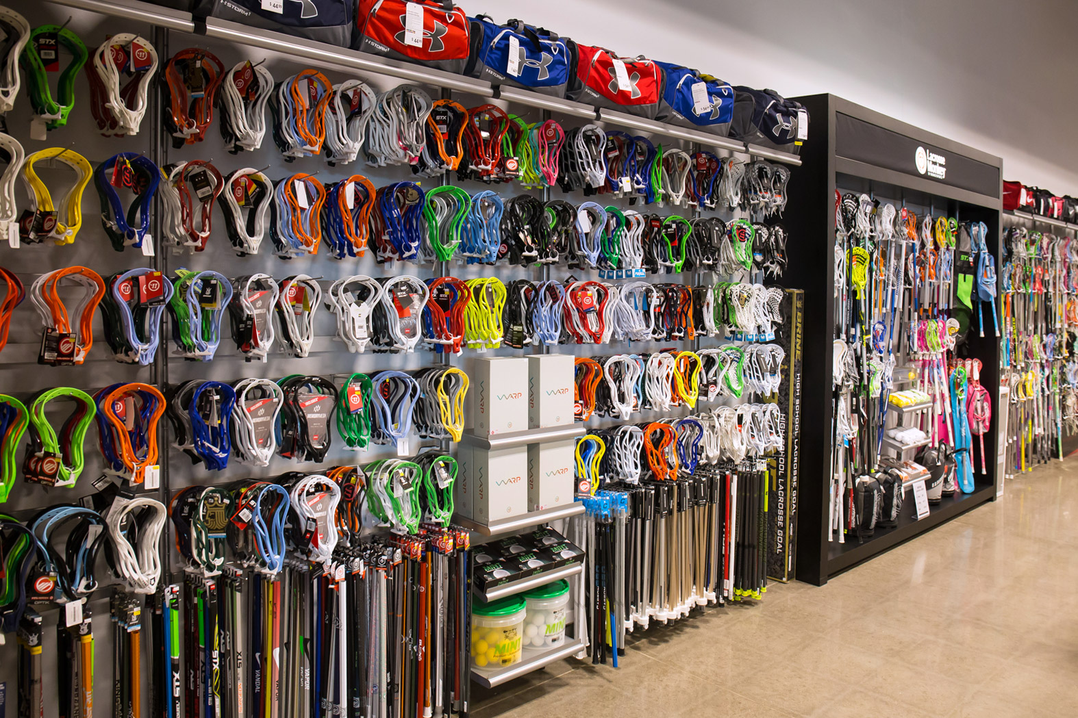 Lacrosse. Lacrosse is one of the fastest growing sports in California and Monkey Sports-Northridge is ready to grow with it. Our Northridge location is packed with a large selection of sticks, heads, protective gear, and everything else you will need to dominate on the field.